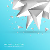 3D Low polygon geometry background. Abstract polygonal geometric shape. Lowpoly minimal style art. Vector illustration royalty free illustration