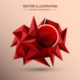 3D Low polygon geometry background. Abstract polygonal geometric shape.. 3D Low polygon geometry background. Abstract polygonal geometric shape. Lowpoly Stock Image