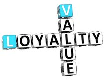 3D Loyalty Value Crossword Stock Image
