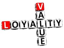 3D Loyalty Value Crossword Royalty Free Stock Photos