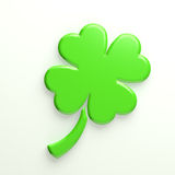 3D Lucky Clover stock photos