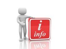 3d ludzie - osoba guzika informacja. Fotografia Stock