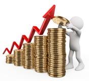 3d ludzie pytanie biel Pojęcie kapitałowy przyrost Obraz Stock