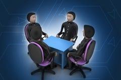 3d ludzie w biznesowym spotkaniu Zdjęcie Stock