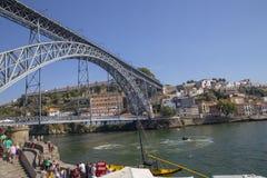 D Luis Bridge Porto, Portugal Royaltyfri Bild