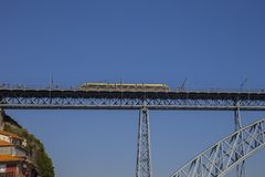 D Luis Bridge Porto, Portugal Royaltyfria Bilder