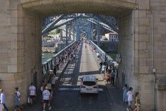 D Luis Bridge Porto, Portugal Arkivfoton