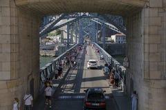D Luis Bridge Porto, Portugal Fotografering för Bildbyråer