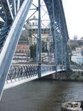 D.Luiz iron build bridge lateral view. Royalty Free Stock Photo
