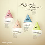 3d luminous chandelier infographic elements. Realistic vector abstract 3d luminous chandelier infographic elements Royalty Free Stock Images