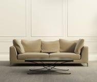 3d luxe klassieke woonkamer Royalty-vrije Stock Afbeeldingen