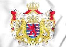 3D Luxembourg coat of arms. Stock Photo