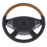 3d luxury steering wheel with wood top. On a white background 3d illustration Royalty Free Stock Photography