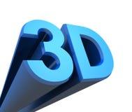 3D märker blue2 Royaltyfri Illustrationer