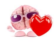3d mózg odczuć miłość Zdjęcie Royalty Free