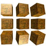 3D mönstrad kub Arkivbild