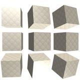 3D mönstrad kub Fotografering för Bildbyråer