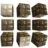 3D mönstrad kub Royaltyfria Bilder