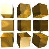 3D mönstrad kub Royaltyfri Bild
