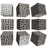 3D mönstrad kub Arkivfoton