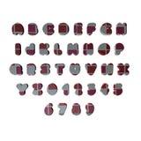 3D mönstrade bokstäver/alfabet/nummer Arkivbild