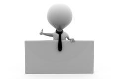 3d mężczyzna biznesowego mężczyzna sztandaru pojęcie Zdjęcie Stock