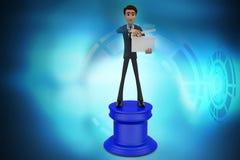 3d mężczyzna dyrektora hologram Zdjęcie Royalty Free