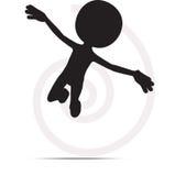 3d mężczyzna latanie z rękami otwiera Zdjęcia Royalty Free