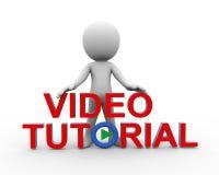 3d mężczyzna pozycja z wideo tutorial Fotografia Stock