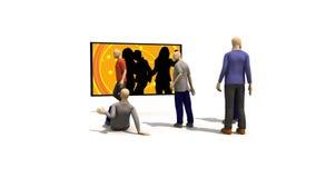 3D mężczyzna przedstawia młodzi ludzie tanczyć ilustracja wektor