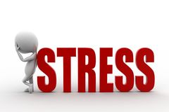 3d mężczyzna stres Zdjęcia Stock