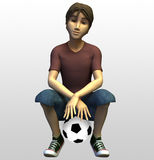 3d gracz piłki nożnej Obraz Royalty Free
