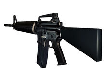 3d M16 Assault Rifle Stock Image