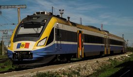 D1M Iasi Socola - Chisinau. In 2012, Moldovan Railway and Electroputere VFU company in Romania started a complete modernization program for D1 units as D1M, with Stock Photo