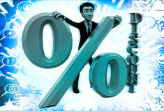 3d ma with discount percentage illustration Stock Photo