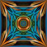 3D maak gebrandschilderd glasachtergrond naadloze tegel vector illustratie