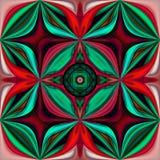 3D maak gebrandschilderd glasachtergrond naadloze tegel stock illustratie