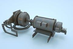 3D Machine Robot in Motion. Nice 3D Rendering Stock Photos