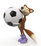 3d macule le joueur de football Images stock