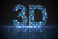 3D made of digital screens in blue Stock Images