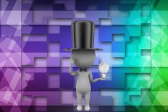 3d magician illustration Stock Images