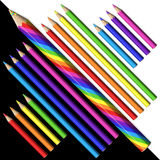 3d Magicznego ołówka Ustaleni ołówki Zdjęcia Stock