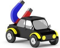 3D magnet in a black car Stock Image