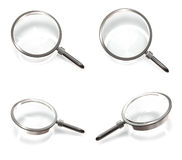 3D magnifying glass icon. 3D Icon Design Series. Royalty Free Stock Photo