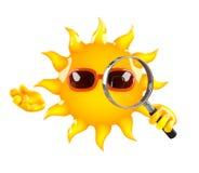 3d Magnifying sun Stock Image