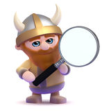 3d Magnifying viking Royalty Free Stock Image