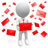 3D mail concept Royalty Free Stock Images