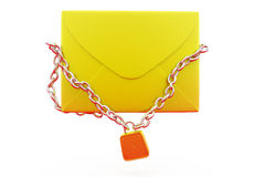 3d mail lock concept Royalty Free Stock Photography