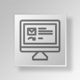 3D Mail reply Button Icon Concept. 3D Symbol Gray Square Mail reply Button Icon Concept Royalty Free Stock Photography