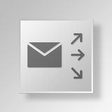 3D mailing Button Icon Concept Royalty Free Stock Photography